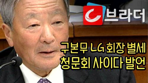 '최순실 청문회 사이다 발언' 구본무 LG 회장 별세 '국회에서 법으로 막아야지' [C브라더] 이미지