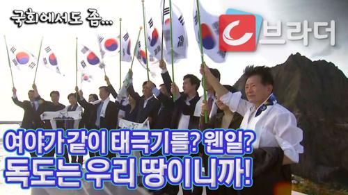 여야가 함께 든 태극기 '웬일?' 독도 방문한 대한민국 국회의원, 일본은 '항의' [C브라더] 이미지
