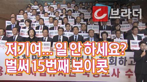 '벌써 15번째 보이콧' 자유한국당의 국회 보이콧 '국회일정 거부하는 국회의원?' [C브라더]  이미지
