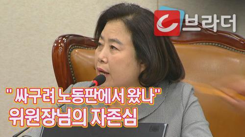'어디 싸구려 노동판에서 왔나' 자유한국당 박순자 의원, 국토위 위원장의 썰전 [C브라더] 이미지