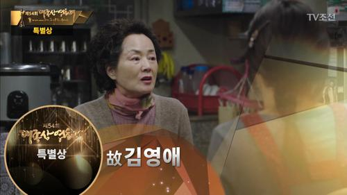 특별상 故김영애 수상소감