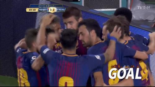 세트피스 상황, 피케의 골로 다시 리드를 가져가는 바르셀로나!