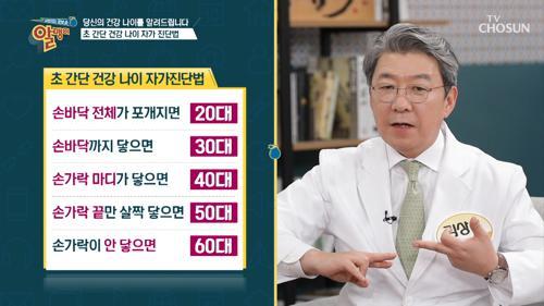 『건강 나이 자가 진단법』 출연자 중 최연소 누구?!