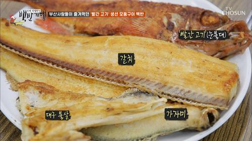 생선 모둠구이의 주연 '빨간 고기'(?) #자갈치시장