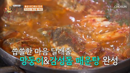 으아~ 감탄사 나오는 ˹망둥이&감성돔˼ 매운탕 TV CHOSUN 20210108 방송