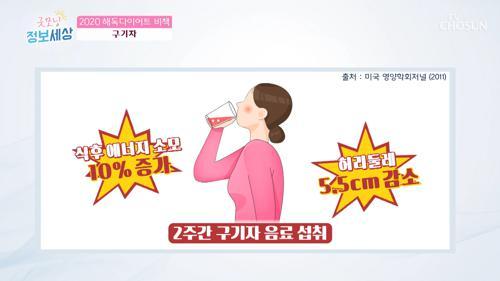 2주간 구기자 음료 섭취 '허리둘레 5.5cm 감소!'