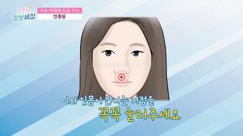 식욕 억제 도움 주는 『인중혈 지압』 #광고포함