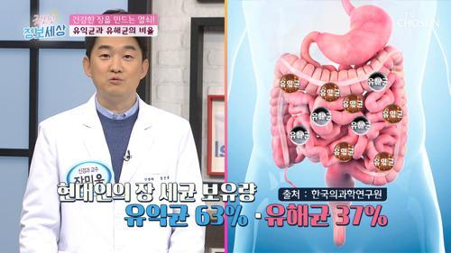 건강한 장을 만드는 '유익균&유해균' 비율 #광고포함