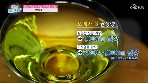 【오메가-3】 중성 지방 녹이는 데 도움 TV CHOSUN 210119 방송