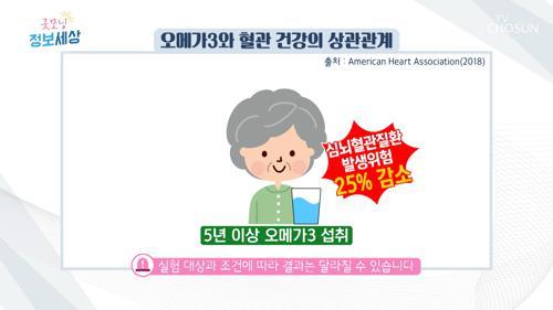 불포화 지방산 풍부👍 심뇌혈관질환에 좋은 『알티지 오메가-3』 TV CHOSUN 210303 방송