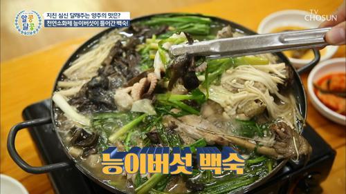 능이버섯과 닭의 만남♥ 능이백숙에 쭈꾸미까지?!