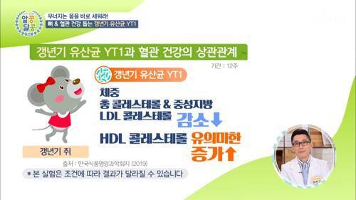 혈관&뼈 건강에 좋은 ˹갱년기 유산균 YT1˼ TV CHOSUN 20210513 방송