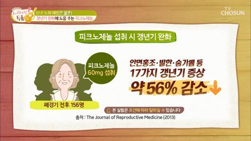 갱년기 증상에 좋은 『피크노제놀』 TV CHOSUN 210209 방송