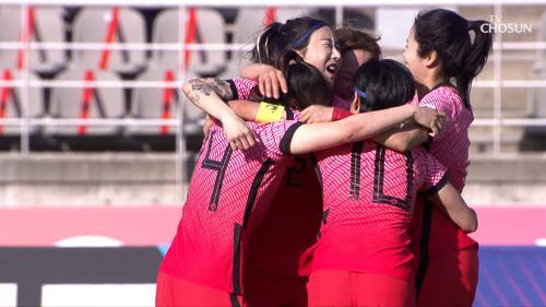 도쿄올림픽 여자축구 대한민국 VS 중국 전반전 하이라이트