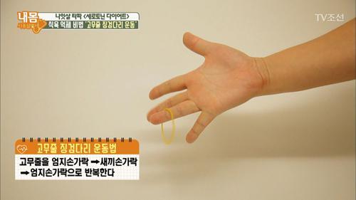 식욕 억제하는 손가락 운동법! '고무줄 징검다리 운동'