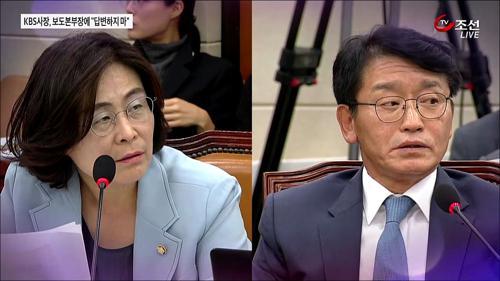 """국감 증인 입 막은 고대영 KBS 사장의 한마디 """"답변하지 마"""""""