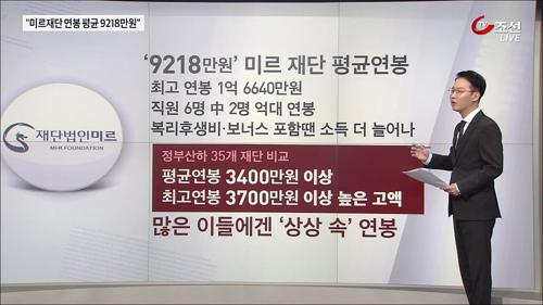'억'소리 연봉…역시 신의 직장 '미르재단'