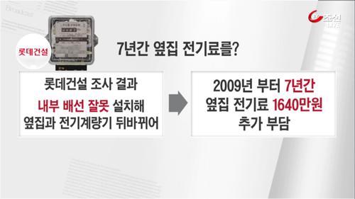 전기료 폭탄…알고보니 옆집 전기세 '황당'