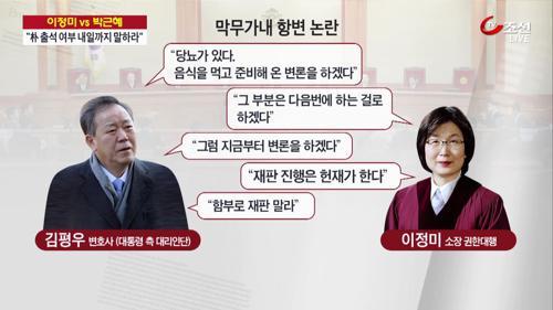 """""""진행은 헌재가 한다"""" vs """"재판 함부로 말라""""…힘겨루기 팽팽"""