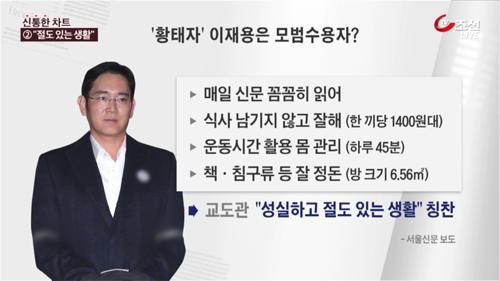 '황태자' 이재용, 서울구치소서 '모범 수용자'로 통해