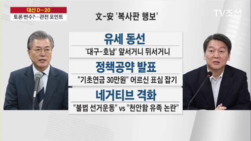 文-安 '공약·지역' 대결 후끈…2차 TV토론서 '대격돌' 전망