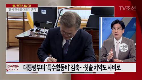 """靑, 특수활동비 대폭 절감…""""공식행사 외 사비로"""""""