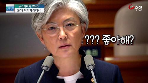 """김중로 """"강경화 장관, 하얀 머리 멋있다"""" 발언 논란"""