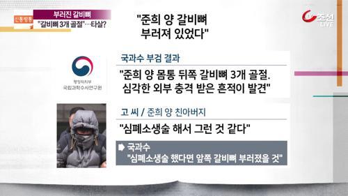 준희 양의 '부러진 갈비뼈'…타살 가능성에 무게?