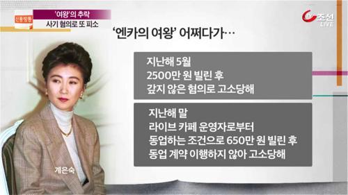 '엔카의 여왕' 계은숙의 몰락...또 사기혐의 피소