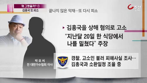 '끝나지 않은 악몽'...김흥국, 상해혐의로 또 피소