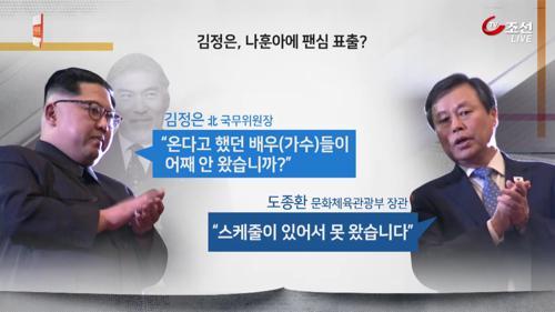 """""""나훈아는 왜 안 왔습니까?""""...'팬심' 드러낸 김정은"""