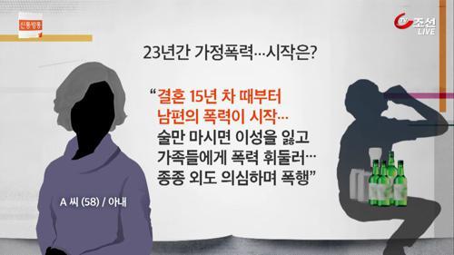 폭력 남편 선처한 50대 주부의 비극