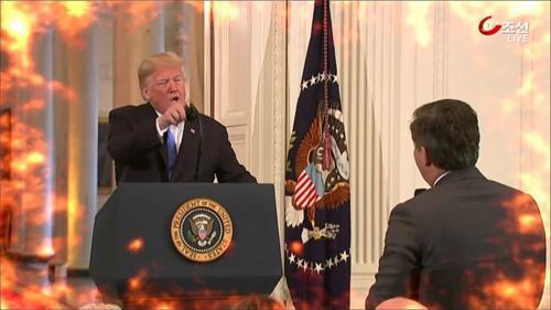격노한 트럼프…CNN 기자와 삿대질 설전