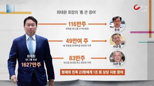 """""""마음의 빚 갚겠다""""...최태원, 1조 원 '깜짝 증여'"""