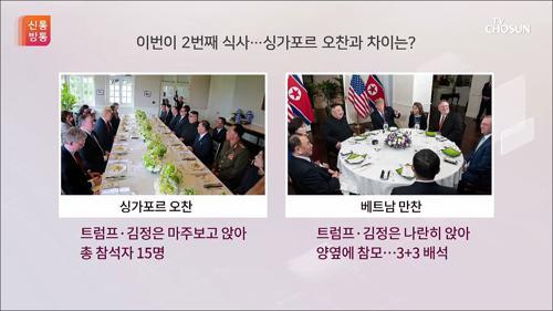 트럼프·김정은, 2번째 식사...싱가포르 오찬과 차이는?