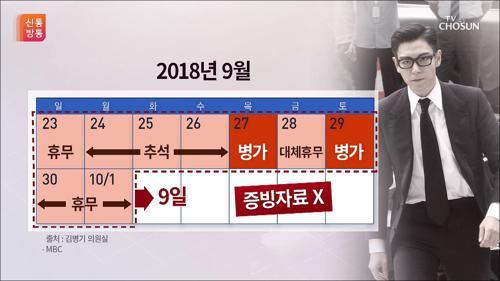 왜 징검다리 휴일에…빅뱅 탑의 '수상한 휴가'