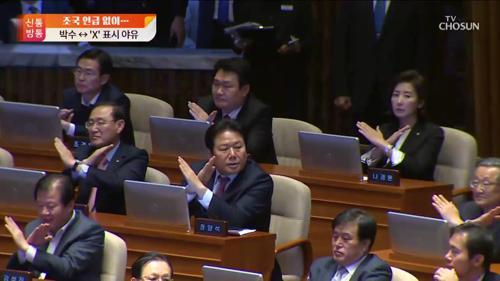 'X 표시' '악수 거부'...한국당의 시정연설 대응법