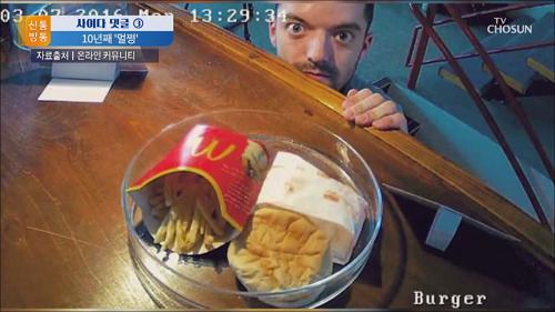 [사이다 댓글 ③] 이것은 노벨상감?...10년째 썩지 않는 햄버거