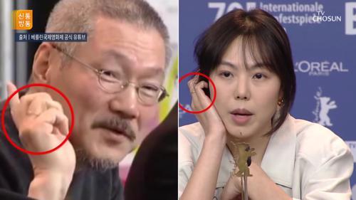 """""""수상 축하해요""""…포옹 나눈 홍상수·김민희"""