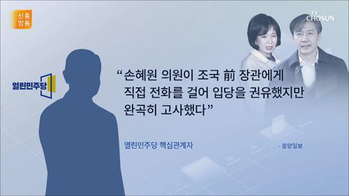 조국, 손혜원의 입당 권유 거절?