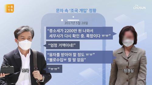 檢, 정경심 '불로수입' 문자 재공개…왜?