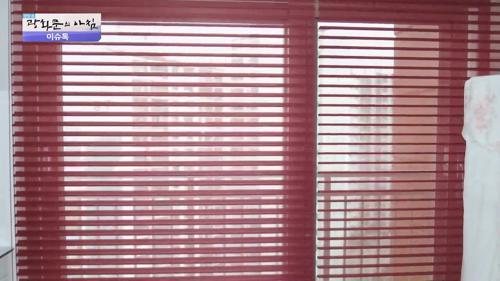 집 안 창문 블라인드의 두 얼굴