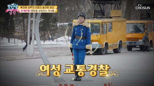 ✦평양 인기 TOP 교통경찰✧ 조회수 100만 뷰➚