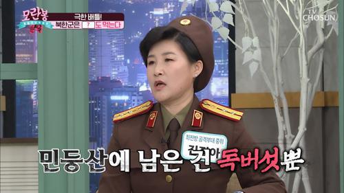 극심한 식량난을 겪고 있는 북한군인들.. TV CHOSUN 20210117 방송