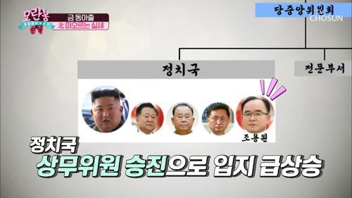 北 떠오르는 실세↗ 특급 승진 열차 탄 ˹조용원˼ TV CHOSUN 210131 방송