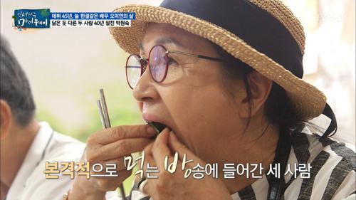 박원숙의 먹방 쇼! 남해 상추쌈 만들기!