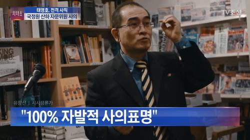 국정원 산하 자문위원 자진 사퇴한 태영호 전 영국 주재 북한 공사