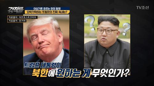 김정은도 모르는 트럼프의 오락가락 속내는?