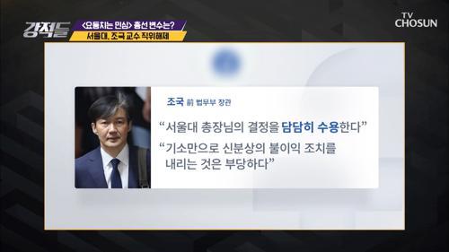 서울대 조국 교수 '직위해제'의 이유?