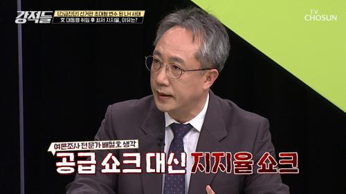 블랙홀 뒤에는 싱크홀.. 文 대통령 지지율 30%대 TV CHOSUN 210320 방송